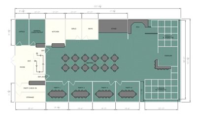 Indoor play center floor plan - Kidmazium